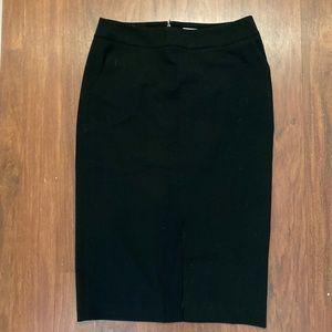 Calvin Klein front slit back zip midi skirt size 4